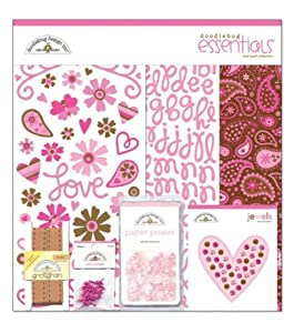Doodlebug 12-Inch by 12-Inch Page Kits, Essentials Love Spell