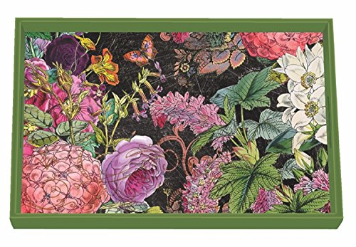 Michel Design Works Botanical Garden Wooden Decoupage Vanity Tray, 12.25
