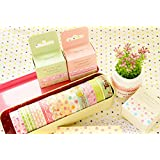 ONOR-Tech Set of 4 Roll Lovely Cute Japanese Washi Masking Tape Decorative Tape for Diary, Journal, Planner (Style-4)