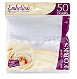 Embellish Deluxe Clear Forks 50 Count