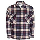 MENS SHERPA LINED PADDED THICK LUMBER JACK WARM CHECK WINTER SHIRT NEW HOODED STYLE ALSO AVAILABLE M-XXXL