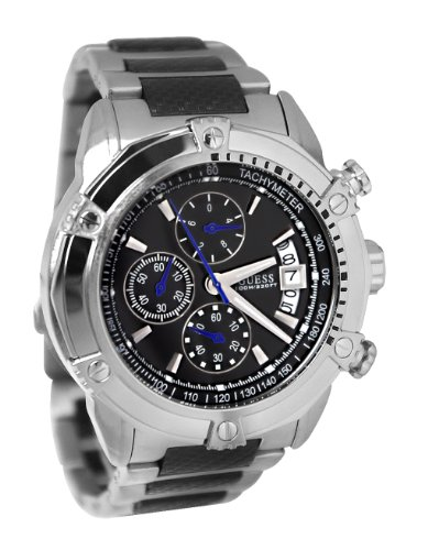 GUESS Men's U18507G2 High Gear Silver-Tone Chronograph Watch
