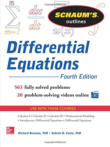 Schaum's Outline of Differential Equations, 4th Edition (Schaum's Outline Series)