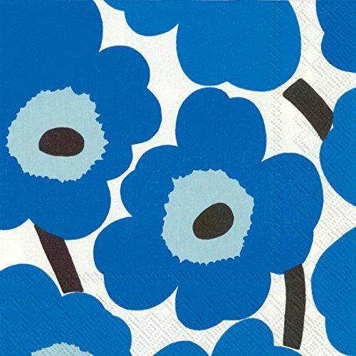 marimekko-finlandese-marimekko-unikko-blu-motivo-tradizionale-tavolo-tovaglioli-di-carta-confezione-