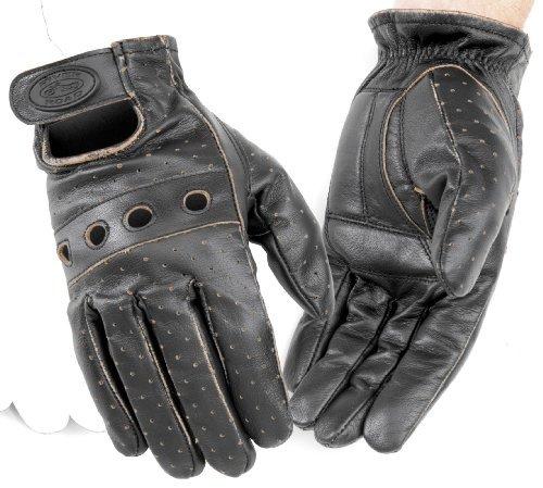 River Road OUTLAW GLV VINTAGE SM Leather Gloves Outlaw Glove BLK VINTAGE SM- 07/G/2327-1