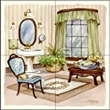 The Tile Mural Store - Sage Bath I by Jerianne Van Dijk - Kitchen Backsplash / Bathroom wall Tile Mural
