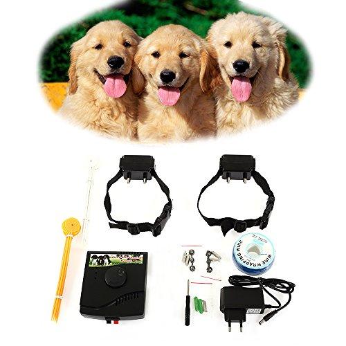 cloture electrique pour chien collier anti fugue avec 2 colliers 53 99. Black Bedroom Furniture Sets. Home Design Ideas