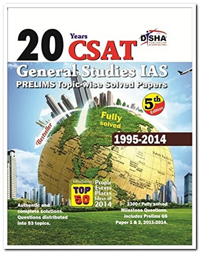 20 Years IAS Prelims (CSAT) General Studies Topic-wise Solved Papers (1995-2014) Image