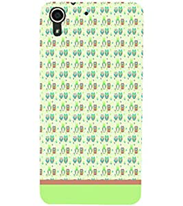 PrintDhaba Owl Pattern D-1677 Back Case Cover for HTC DESIRE 728 (Multi-Coloured)