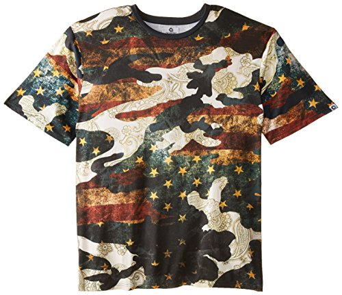 Akademiks Men's Big-Tall Movement Vintage Camo T-Shirt, Blue, 4X-Large
