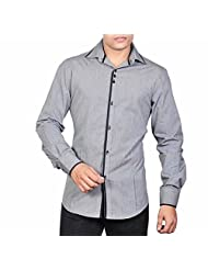 Dazzio Men's Slim Fit Cotton Casual Shirt - B00MNCVSOA