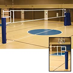 Buy Alumagoal Ultimate Telescopic Aluminum Volleyball System w o Ground Sleeves (Color: Black) by Alumagoal