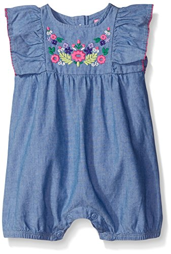 The Children's Place Baby Romper, Chambray, 6-9 Months