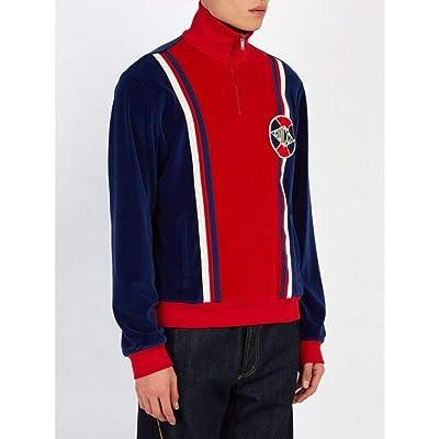 Gucci メンズ Varsity-stripe velvet track top [並行輸入品]