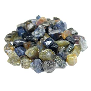 50.00 Ct. Unheated!! Natural Rough Blue, Green, Yellow Sapphire Africa For Study
