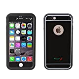IBESTWIN【金属製5.5インチ防水ケース】 iphone 6s plus/iphone 6 plusなど対応するケース、iphone 6s plus防水ケース、iphone 6 plus防水ケース、アイフォン6sプラスケース、5.5インチ防水ケース、IP68レベル防水防滴、耐衝撃性、防塵カバー、防埃、防雪、指紋認証 (ブラック)