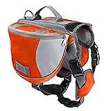 Hunderucksack StillCool Rucksack für Hunde mit wasserfesten, atmungsaktiven Satteltaschen (M, Orange)