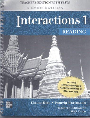 Interactions 1 Reading Teachers Manual