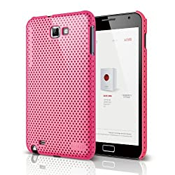 elago G4 Breathe Case for Galaxy Note - Hot Pink + HD Professional film(Compatible with at&t Only)