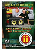 METRA INS-VIDEO4-N - Installer Institute Training Videos - DVD 4 - Enclosure Design and Construction - 61 Min