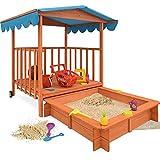 Sandkasten Dach Spielveranda Holz Spielhaus Sonnenschutz...