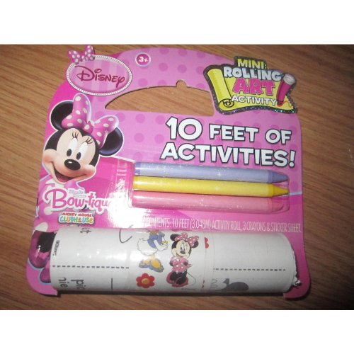 Disney Minnie Mouse Bow-tique Mini Rolling Art Activity 10 Feet of Activities Age 3 + - 1