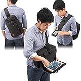 サンワダイレクト ガジェットバッグ iPad タブレット バッグ iPhone スマホ バッグに入れたまま操作可能 A4 ワンショルダー 200-BAG086