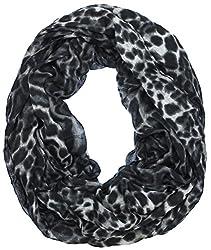 Lauren Ralph Lauren Women's Black & Brown Animal Print Leopard Infinity Loop Scarf