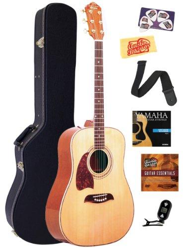 Oscar-Schmidt-OG2-Left-Handed-Dreadnought-Acoustic-Guitar-Bundle-with-Hardshell-Case-Tuner-Strap-Strings-Picks-and-Polishing-Cloth-Natural