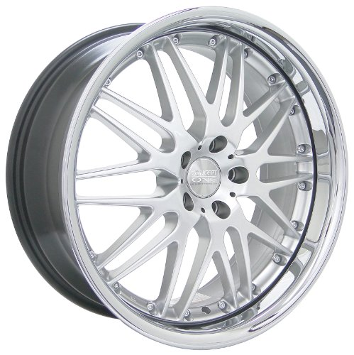Kyowa Racing Raven (Series 523) Hyper Silver with Chrome Lip - 20 x 8.5 Inch Wheel