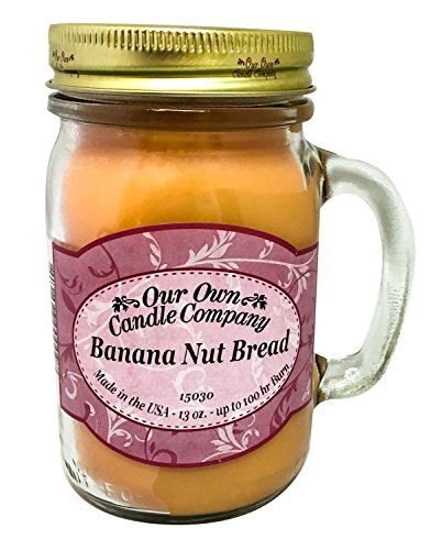 Banana Nut Bread Scented 13 Ounce Mason Jar Candle By Our Own Candle Company (Banana Nut Bread Candle compare prices)