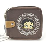 Christmas Gift - Classic Beauty Queen Betty Boop Bifold Wallet with Security Zipper in Brown Color