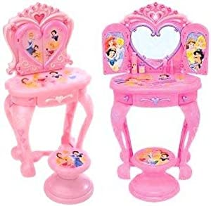 Amazon Com Disney Princess Vanity Table With Stool Toys