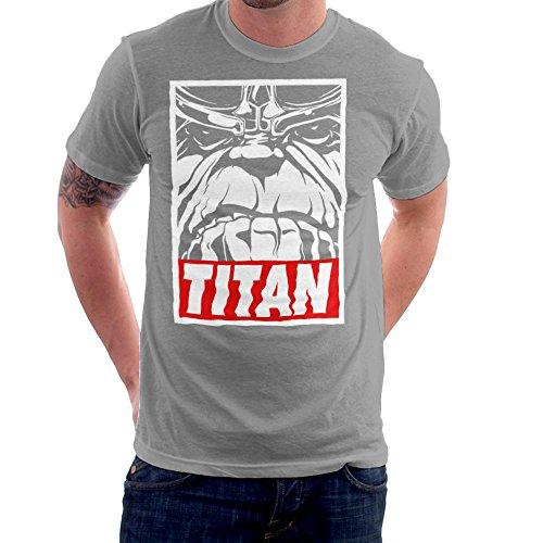 Thanos Titan Obey Logo Men's T-Shirt