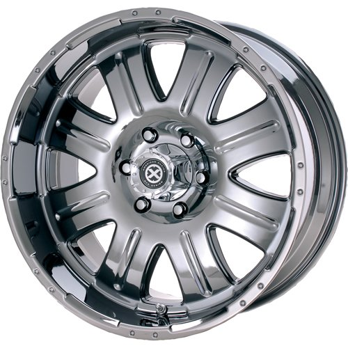 American Racing ATX Punisher 20x9.5 Black Chrome Wheel / Rim 8x170 with a 6mm Offset and a 130.81 Hub Bore. Partnumber AX108029572