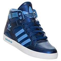 Ladies adidas Originals Hardcourt Hi Casual Shoes basketball sneakers blue by adidas Originals