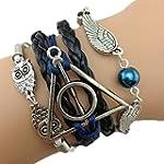 Bracelet Infini Harry Hiboux Ailes d'...
