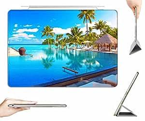 iPad Mini 3 / Mini 2 / Mini Case + Transparent Back Cover - Maldives