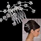 Bridal Starry Rhinestone Hair Comb Tiara Wedding Party Bride Supplies