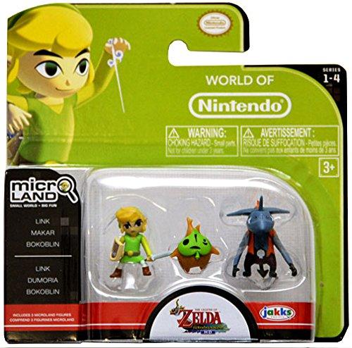 World of Nintendo, Micro Land, The Legend of Zelda: Windwaker HD, Link, Makar, and Bokoblin Figures (Legend Zelda Figure compare prices)