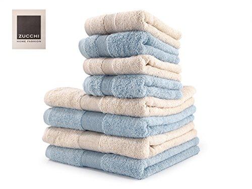 SET asciugamano 8 PEZZI Zucchi HOME FASHION Var. BEIGE e OPALE