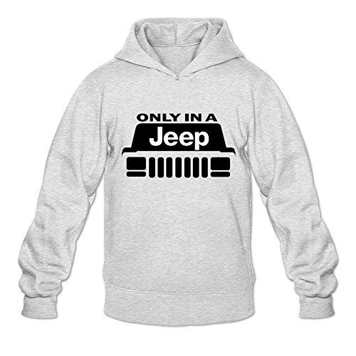 QIIU Men's Jeep Cherokee Xj Front Hoodie Sweatshirt XX-Large