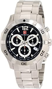 Swiss Military Calibre Mens 06-5I3-04-007 Immersion Chronograph Black Dial Steel... by Swiss Military Calibre