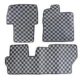 新型タント タント カスタム LA600S LA610 防水 ゴム製 フロアマット 3P 【ブラック×グレー】