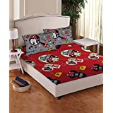 Disney- Athom Trendz- Minnie Mouse Cotton Double Bed Sheet Set- Pink