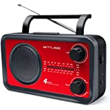 Muse M-05RED Radio portable FM/MW/LW/SW Tuner analogique Secteur ou Pile Rouge