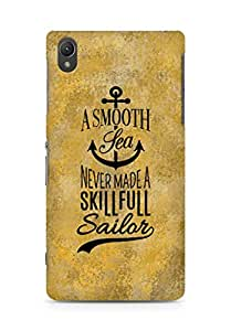 Amez A Smooth Sea Never made a Skillful Sailor Back Cover For Sony Xperia Z2