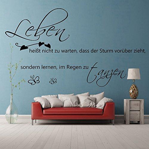 leben hei t nicht zu warten dass der sturm wandtattoo wohnzimmer flur wandsticker spruch. Black Bedroom Furniture Sets. Home Design Ideas