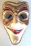 Joker Style Venetian Mask Jester Fancy Mardi Gras Costume Accessory Women Adult