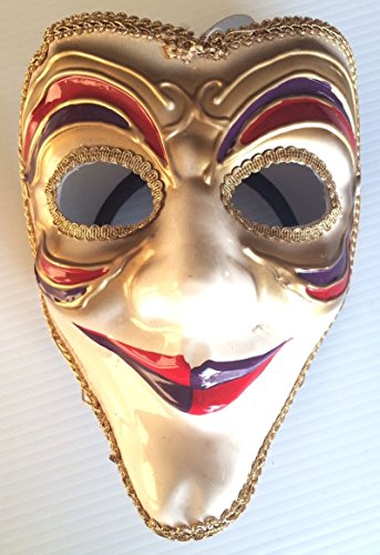 Joker Style Venetian Mask Jester Fancy Mardi Gras Costume Accessory Women Adult